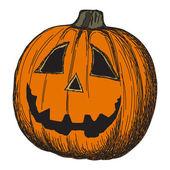 Halloween pumpkin sketch — Stock Vector