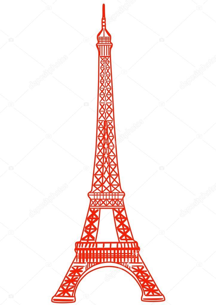Red Eiffel Tower Stock Vector 169 Missbobbit 1173102
