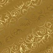 Illustration of gold gift paper — Stock Photo
