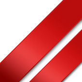 Background with red ribbons — Stock Photo