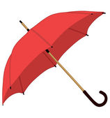 Pink umbrella — Stock Vector