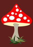 Fly agaric — Stock Vector