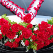 Stock Photo: Decoration of wedding car