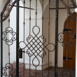 Cast iron door — Stockfoto