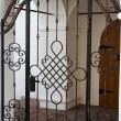 Stock Photo: Cast iron door