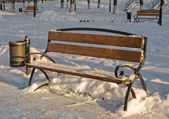 Three benches — Stock Photo