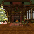Christmas room — Stock Photo #1093704