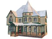 Victorian winter house — Stock Photo