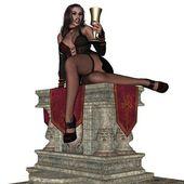 Sexy wampire lady — Stock Photo
