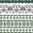 Stock Vector: Complete set of various patterns