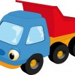 The children's toy car - Stock Vector
