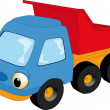 Stock Vector: The children's toy car
