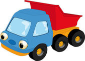 The children's toy car — Vector de stock
