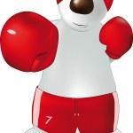Polar bear and boxing — Stock Vector