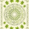 Royalty-Free Stock Vector Image: Green ornament with