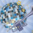 Royalty-Free Stock Vector Image: Disco ball trumpet
