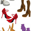 Stock Vector: Female footwear