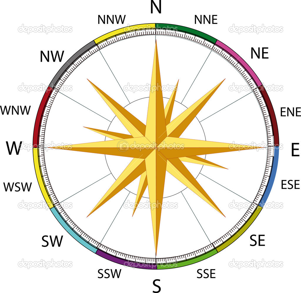 Compass a wind rose — Stock Vector © Liudmila Pantelejenkova ...