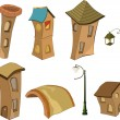 Set of small houses — Imagen vectorial