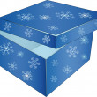 Blue box for a gift — Stock Vector