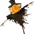 Stock Vector: Scarecrow