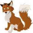 Stock Vector: Young fox