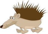 Ridiculous hedgehog — Stock Vector