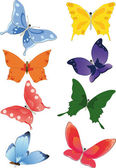Group of butterflies — Stock Vector
