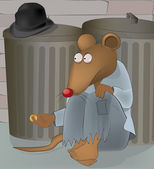 Rats at garbage tanks — Stock Vector