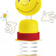 Toy smiling person - Stock Vector