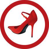 Female shoe — Stock Vector