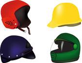 Helmets — Stock Vector