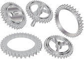 Gears detail castors — Stock Vector