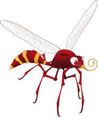 Terrible mosquito from — Stock Vector