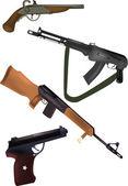 Arme, pistolets et armes à feu — Vecteur