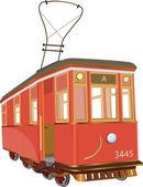 Tram — Stok Vektör