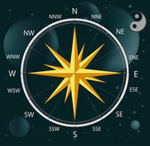 Compass a wind rose — Stockvektor