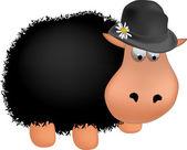 Black sheep — Stock Vector