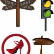 Traffic signs indexes — Vector de stock #1410035