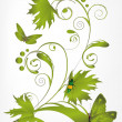 Abstract green pattern from branches — Stock Vector