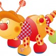 Caterpillar a children&#039;s toy - Stok Vektr