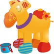 Toy camel — Stock Vector