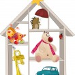 Toy small house - Stockvectorbeeld