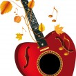 Royalty-Free Stock Vector Image: Guitar heart of the note