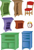 The complete set furniture hours — Cтоковый вектор