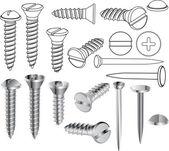 Šrouby a hřebíky — Stock vektor