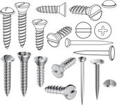 Screws and nails — Stock Vector