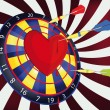 Darts and heart - Stock Vector