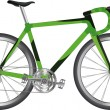 Sports bicycle — Image vectorielle