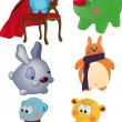 Vector de stock : Complete set of toys